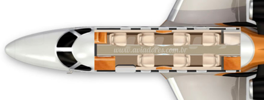 Jato Executivo Embraer EMB-505 Phenom 300 – Ano 2013 – 1480 H.T. full